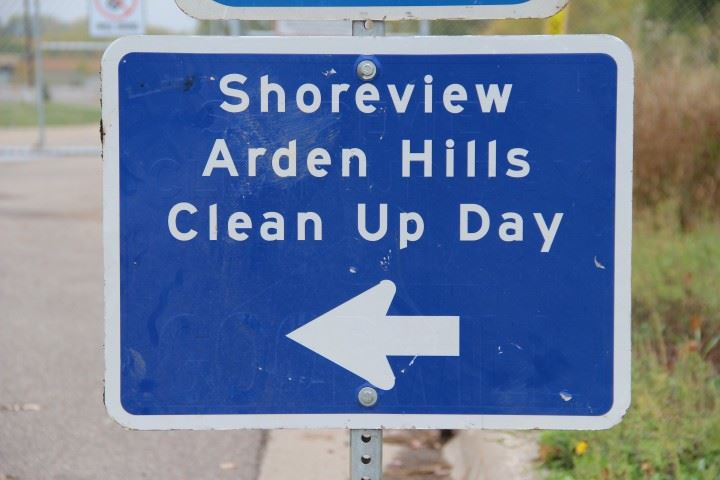 Shoreview-Arden Hills Cleanup Day Sign