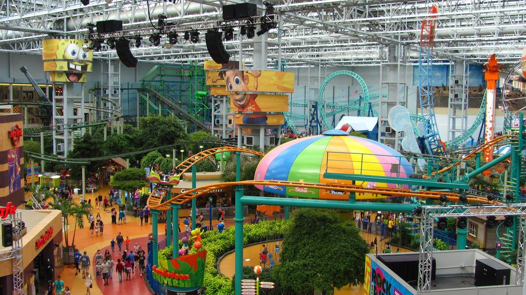 Nickelodeon Universe located at the Mall of America