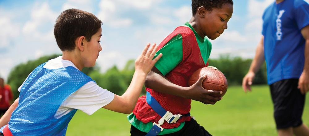 Young Kids playing Flag Football