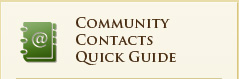 Community Contacts Quick Guide